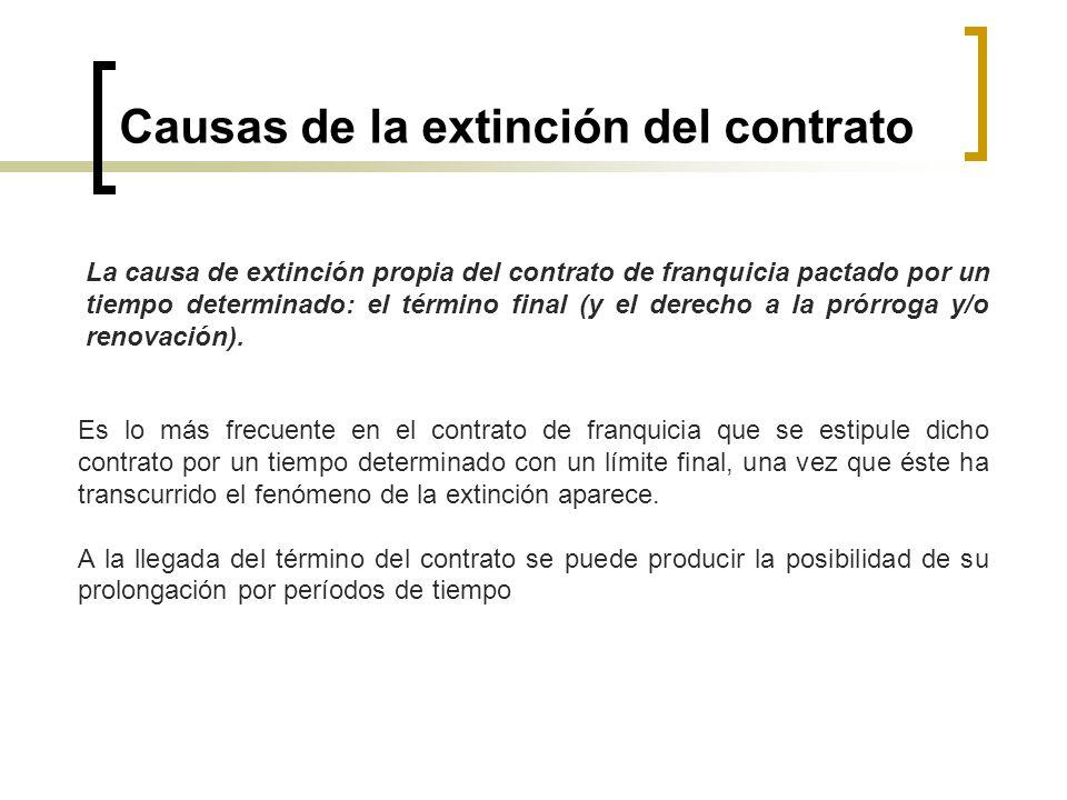 Causas de la extinción del contrato