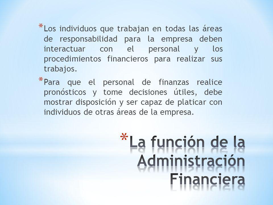 La función de la Administración Financiera
