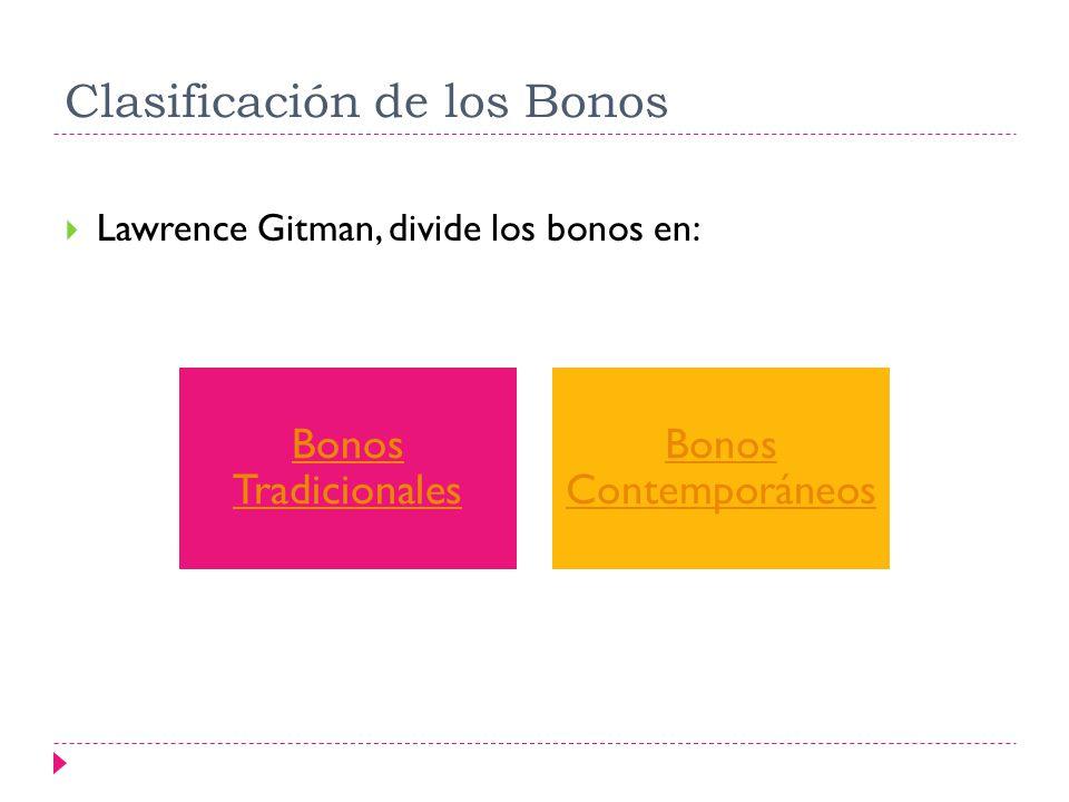 Clasificación de los Bonos