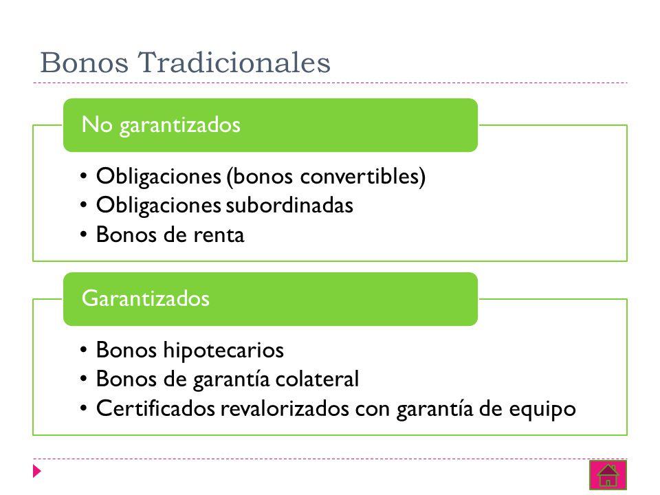 Bonos Tradicionales Obligaciones (bonos convertibles)