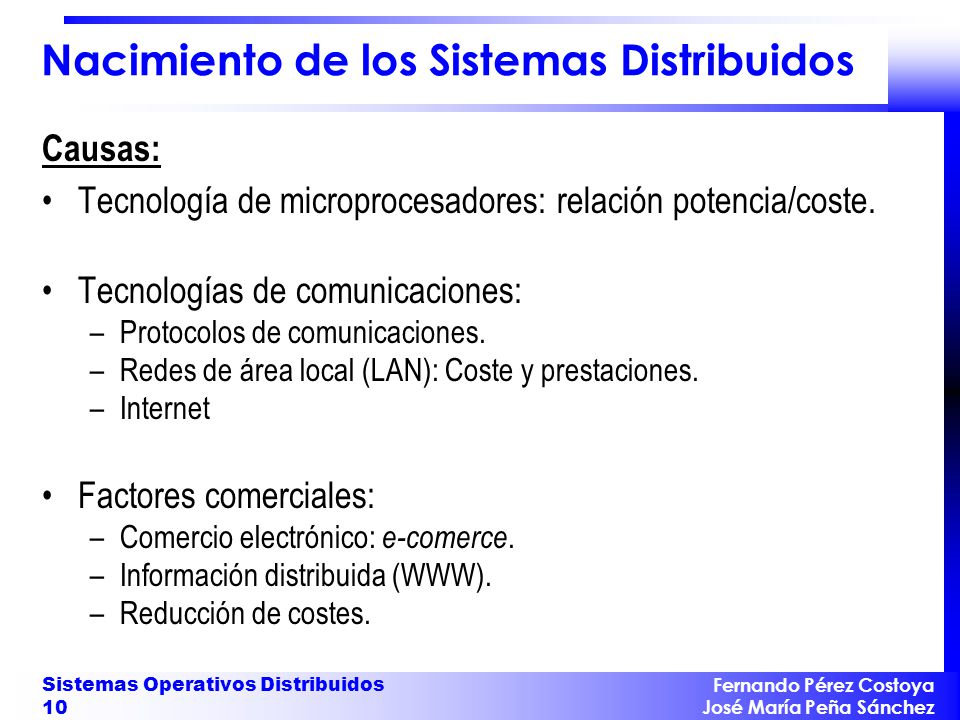 Características de un Sistema Distribuido
