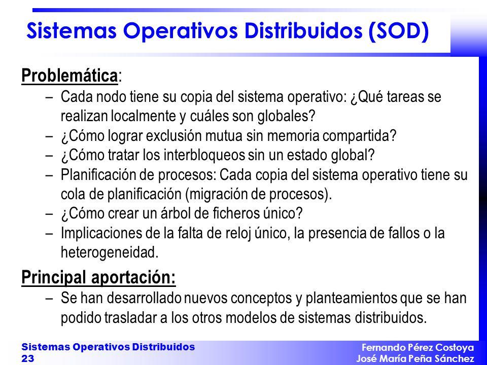 Evolución de los SOD Primeros SO de red: