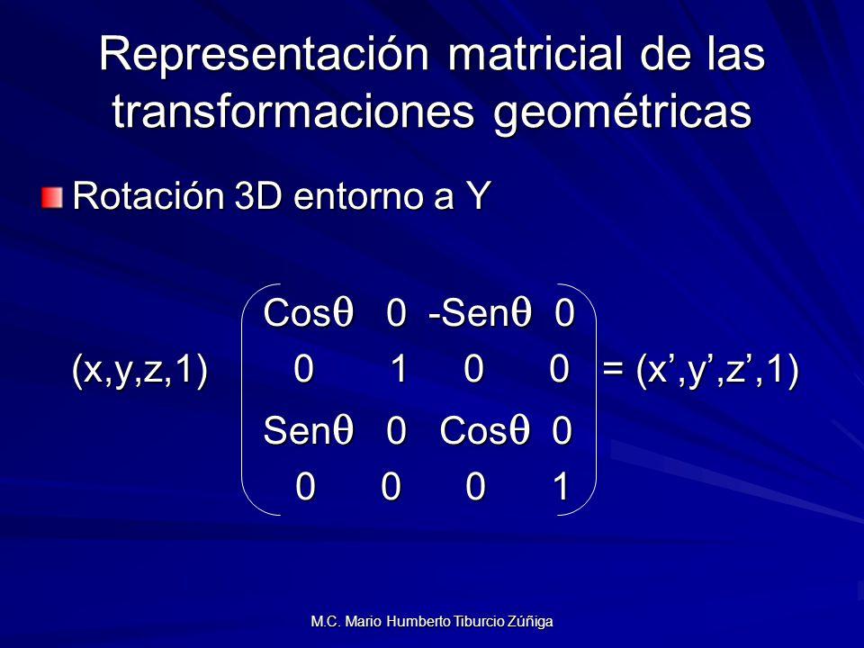 Representación matricial de las transformaciones geométricas