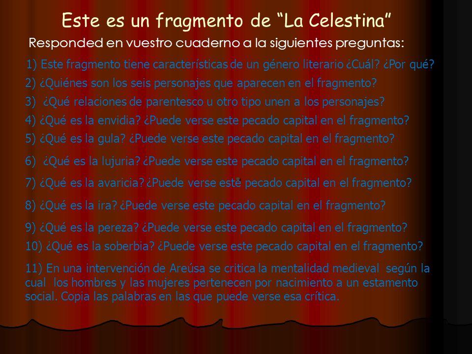 Este es un fragmento de La Celestina