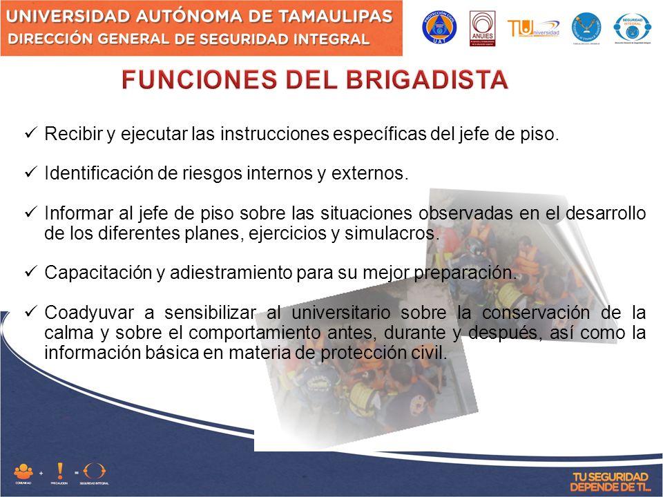 FUNCIONES DEL BRIGADISTA