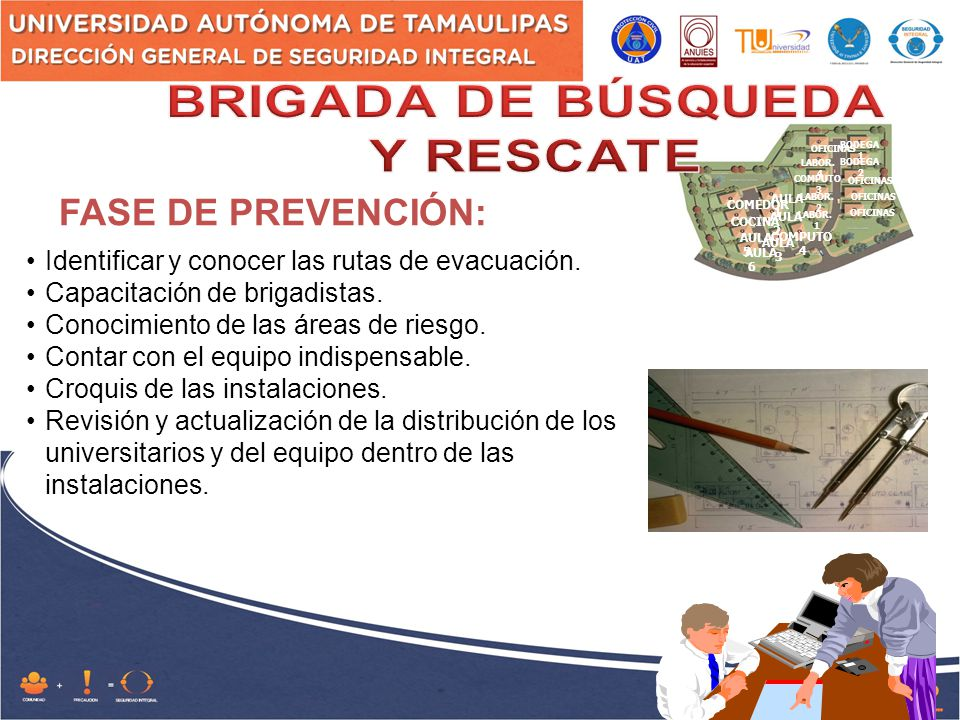 FASE DE PREVENCIÓN: BRIGADA DE BÚSQUEDA Y RESCATE