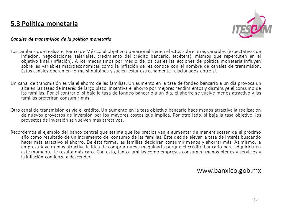5.3 Política monetaria www.banxico.gob.mx