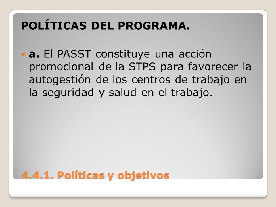 POLÍTICAS DEL PROGRAMA.
