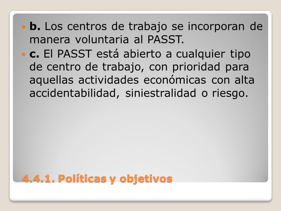 b. Los centros de trabajo se incorporan de manera voluntaria al PASST.