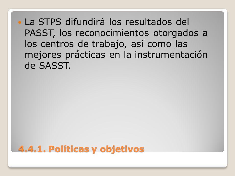 La STPS difundirá los resultados del PASST, los reconocimientos otorgados a los centros de trabajo, así como las mejores prácticas en la instrumentación de SASST.