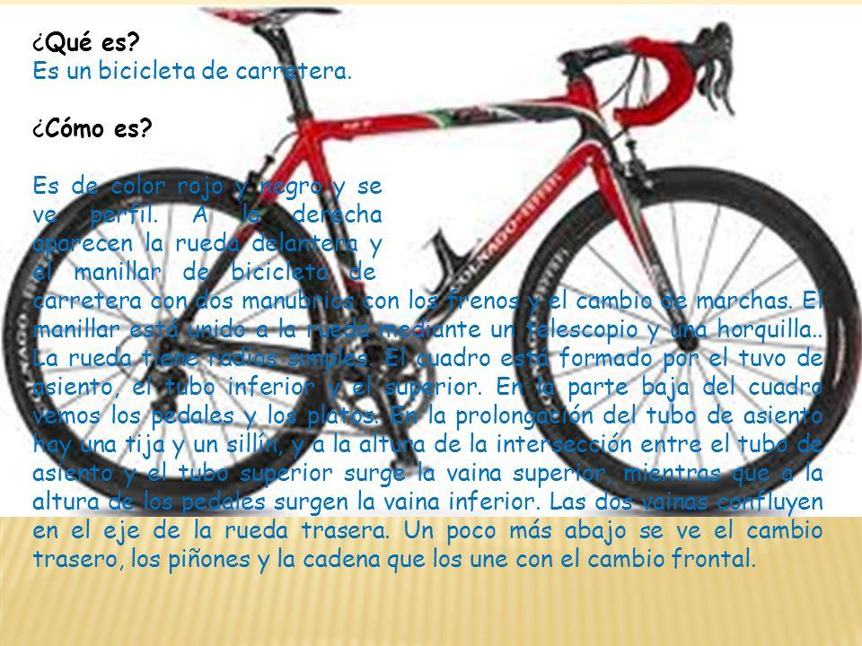 ¿Qué es Es un bicicleta de carretera. ¿Cómo es