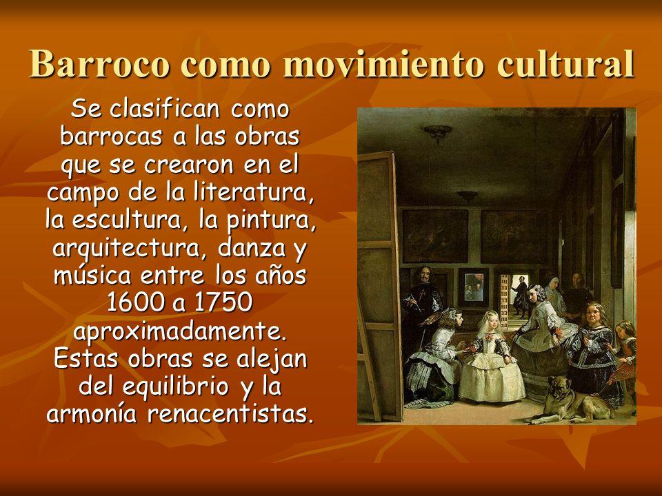 Barroco como movimiento cultural
