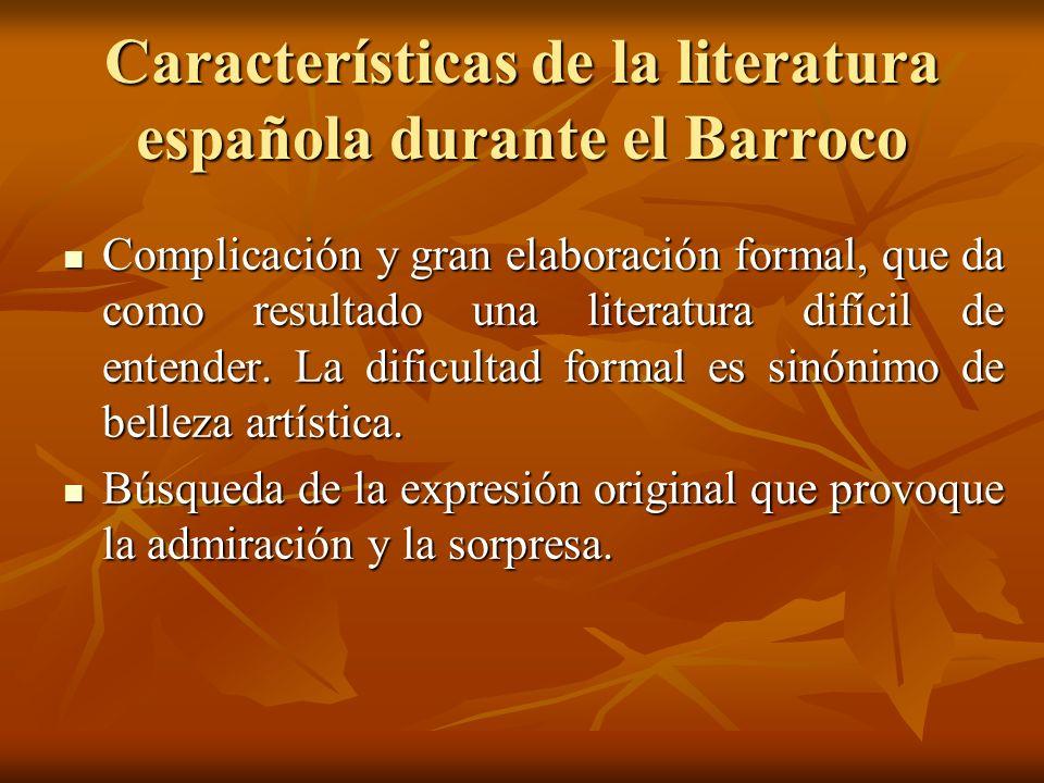 Características de la literatura española durante el Barroco