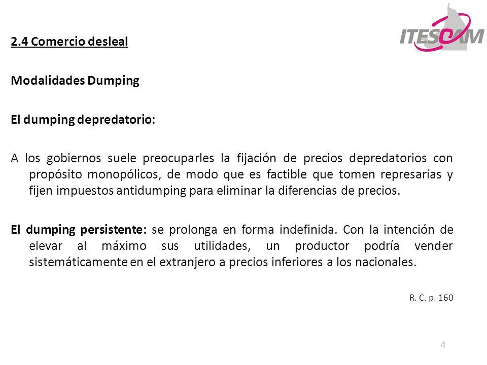 El dumping depredatorio: