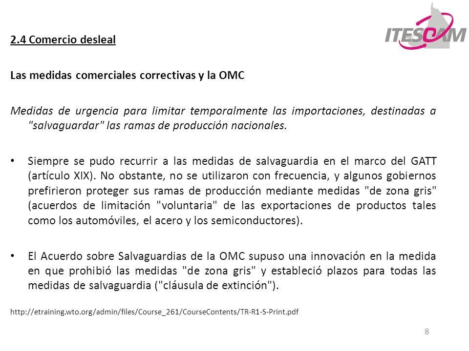Las medidas comerciales correctivas y la OMC