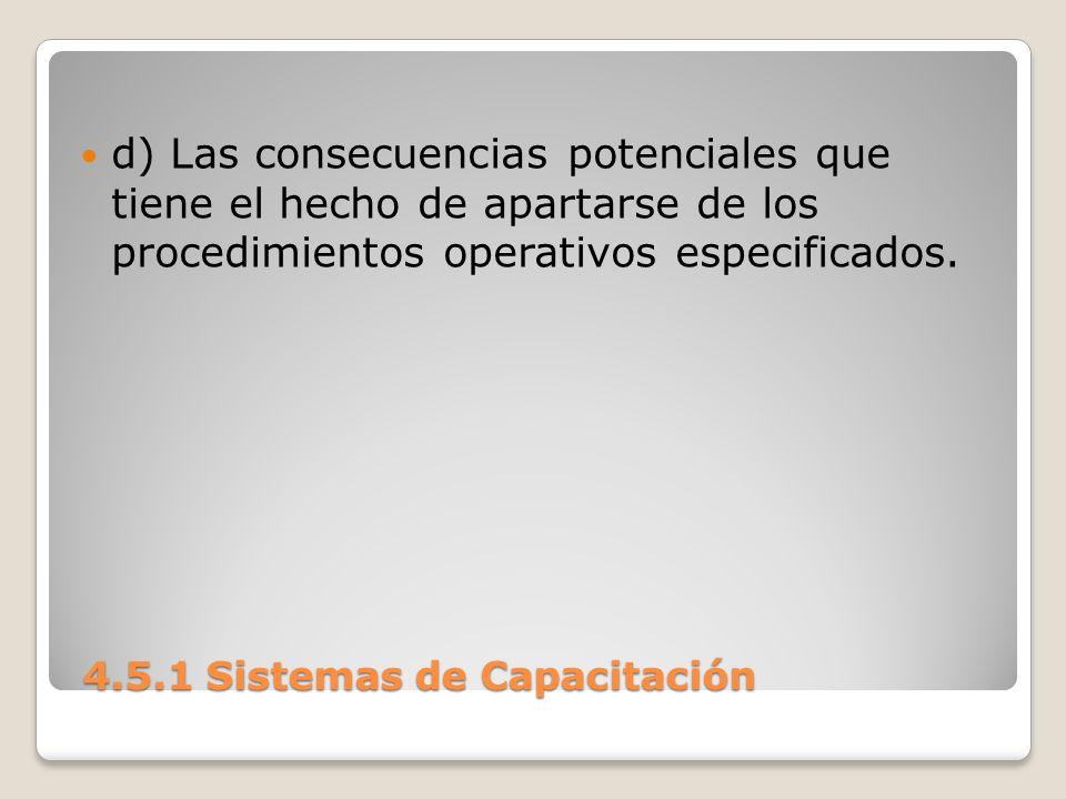 4.5.1 Sistemas de Capacitación