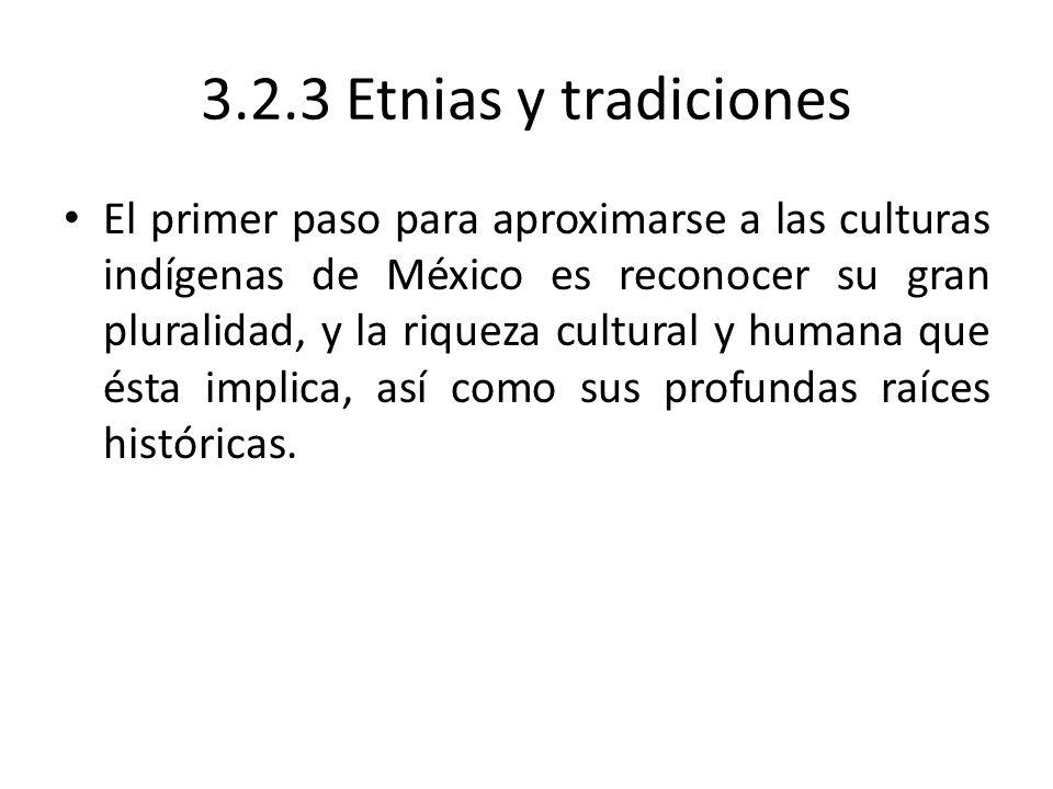 3.2.3 Etnias y tradiciones