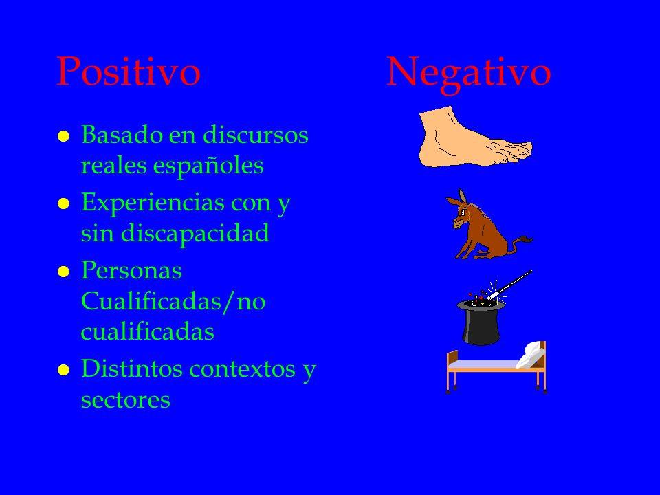 Positivo Negativo Basado en discursos reales españoles