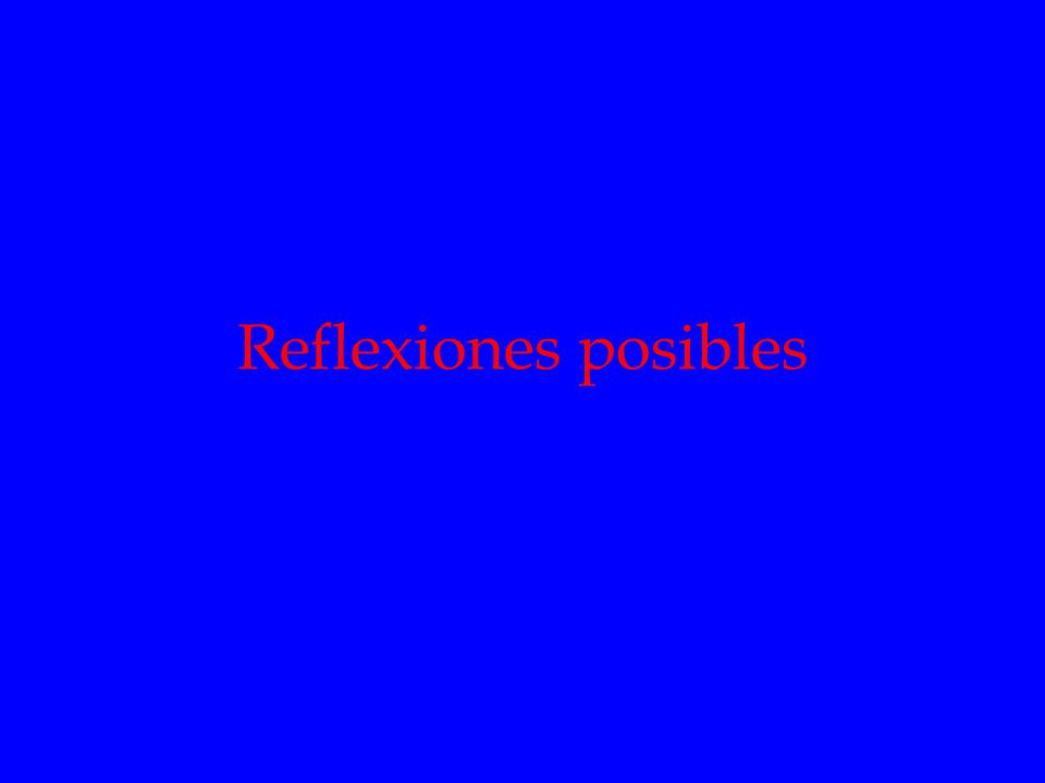 Reflexiones posibles