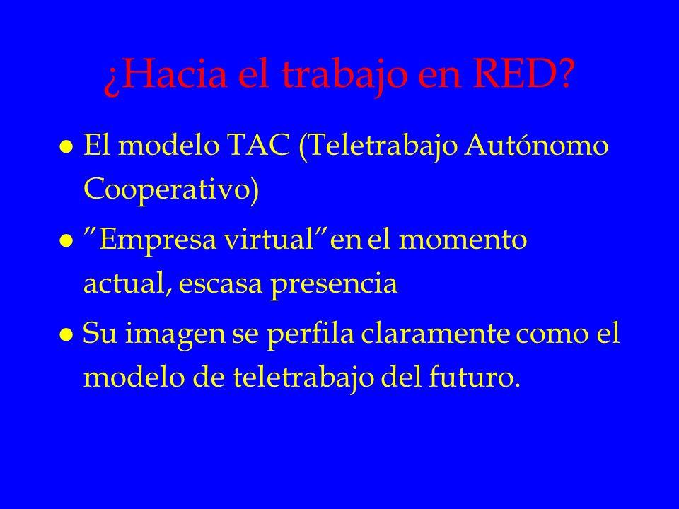 ¿Hacia el trabajo en RED