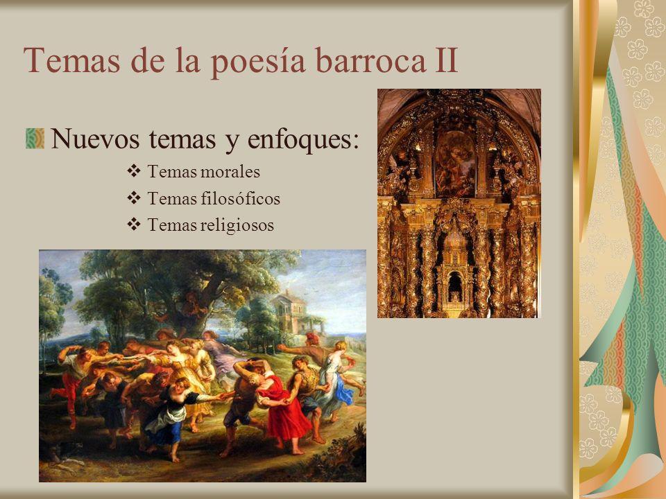 Temas de la poesía barroca II