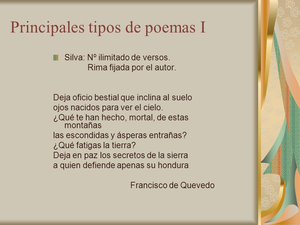 Principales tipos de poemas I