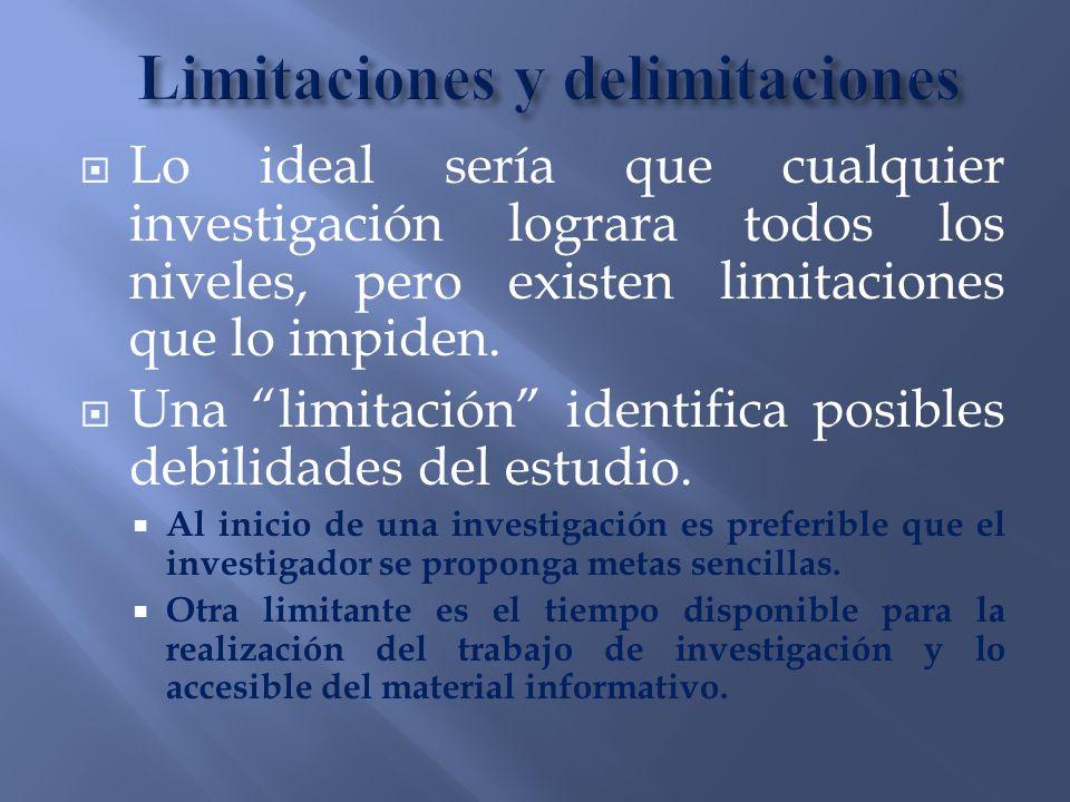 Limitaciones y delimitaciones