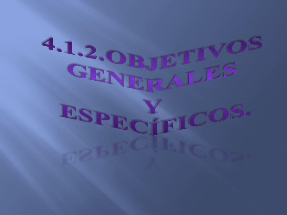 4.1.2.Objetivos generales Y específicos.