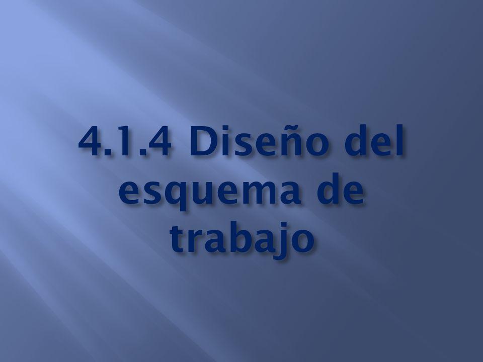 4.1.4 Diseño del esquema de trabajo