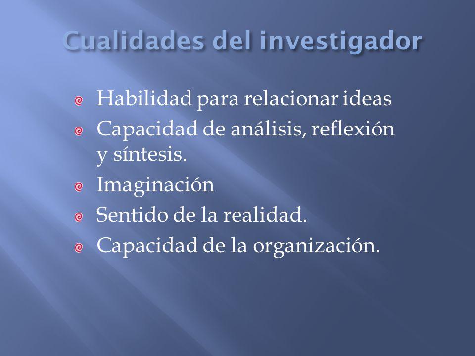 Cualidades del investigador