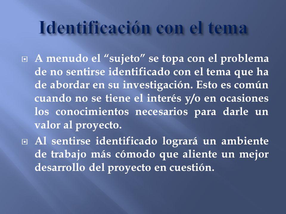 Identificación con el tema