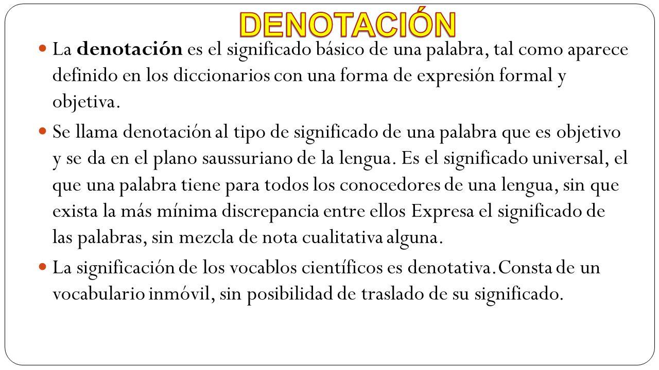 DENOTACIÓN