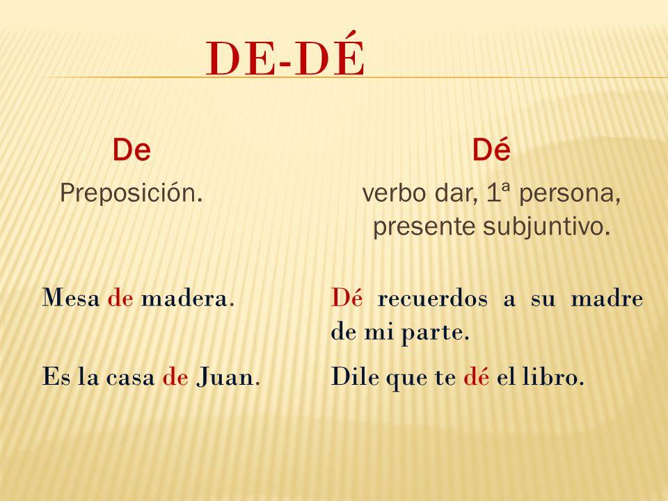 verbo dar, 1ª persona, presente subjuntivo.