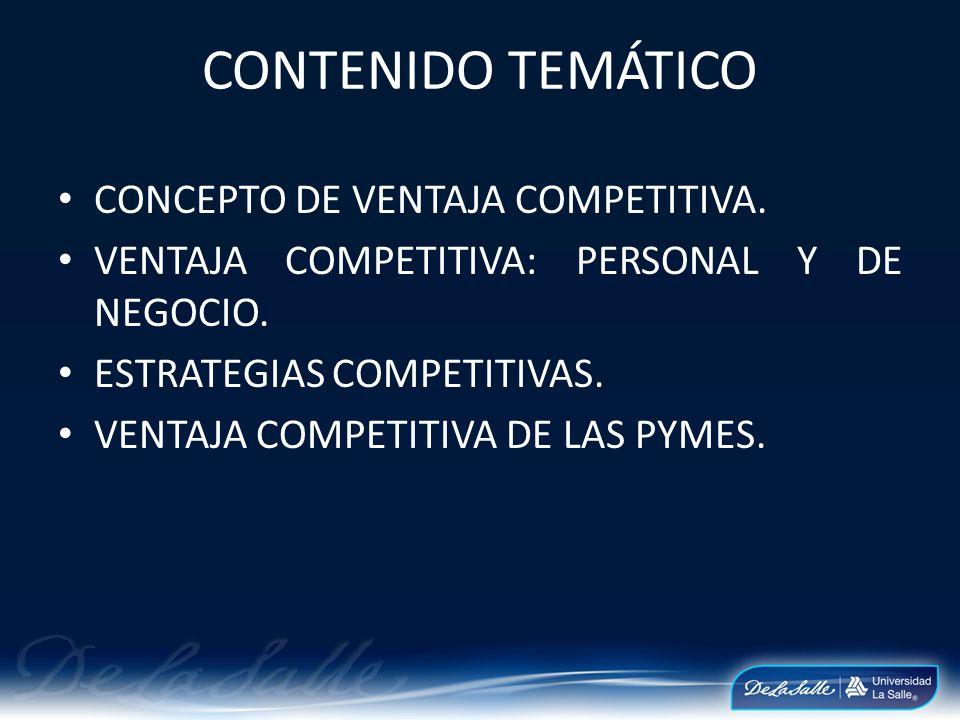 CONTENIDO TEMÁTICO CONCEPTO DE VENTAJA COMPETITIVA.