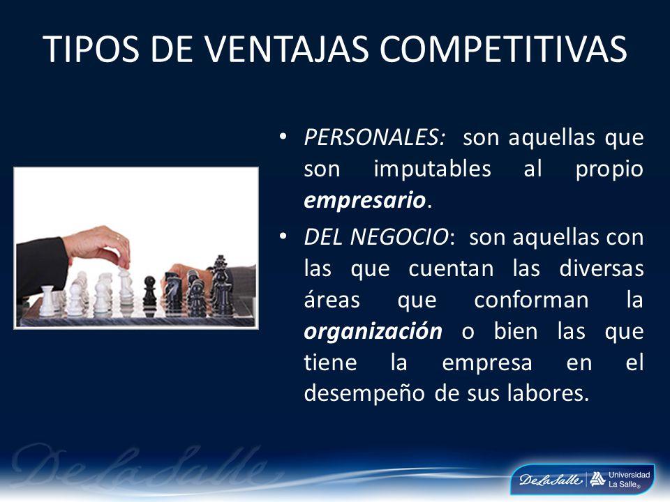 TIPOS DE VENTAJAS COMPETITIVAS