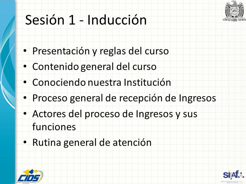 Sesión 1 - Inducción Presentación y reglas del curso