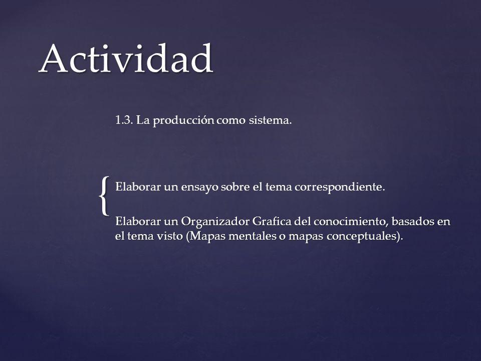 Actividad 1.3. La producción como sistema.