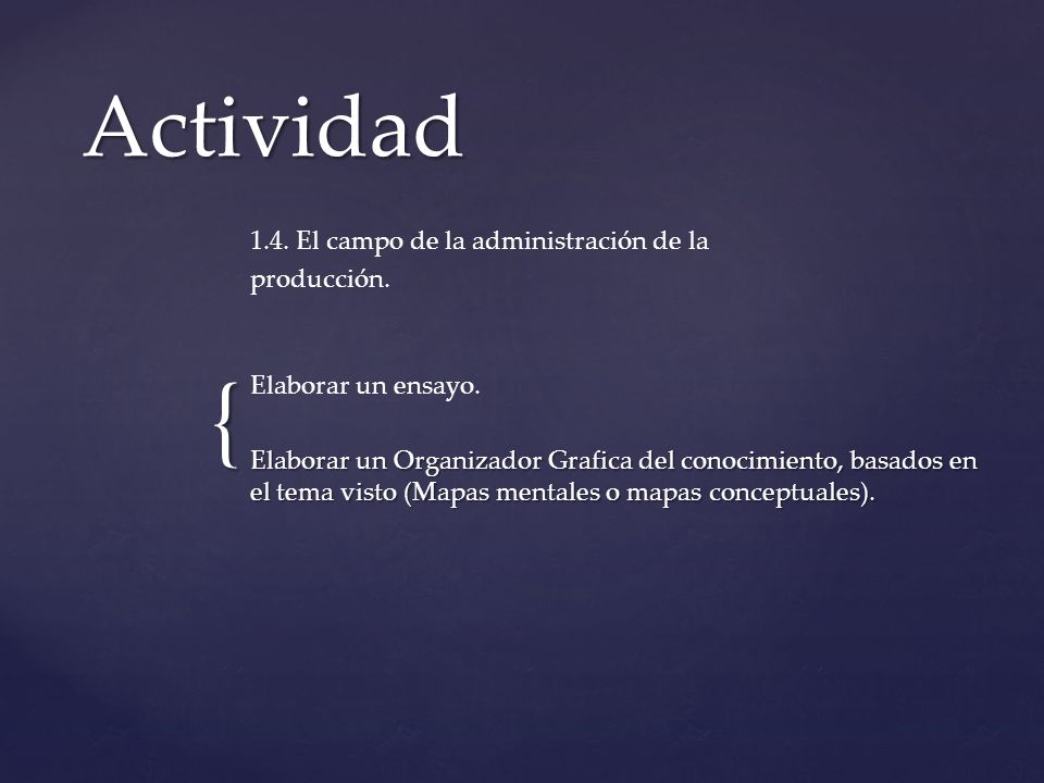 Actividad 1.4. El campo de la administración de la producción.