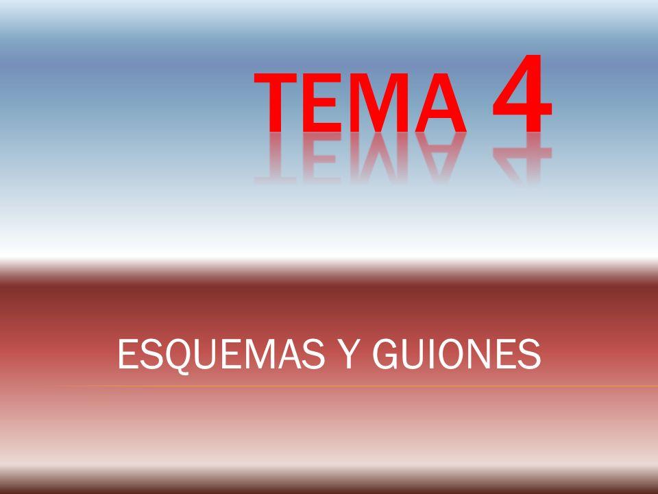 TEMA 4 ESQUEMAS Y GUIONES