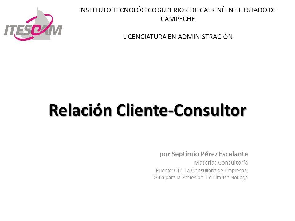 Relación Cliente-Consultor