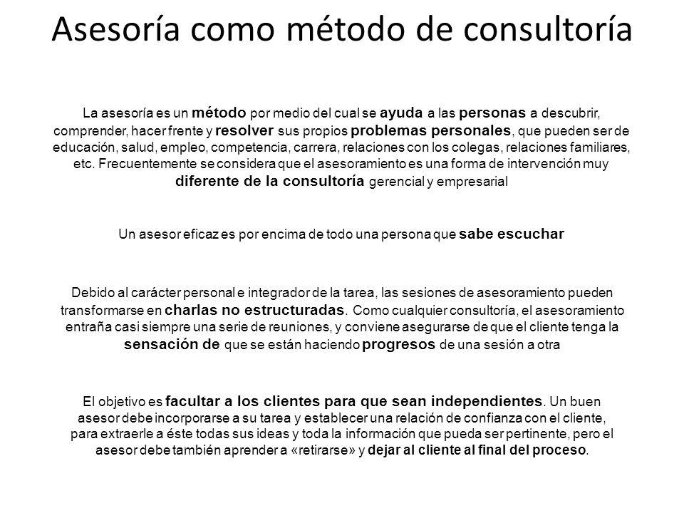 Asesoría como método de consultoría