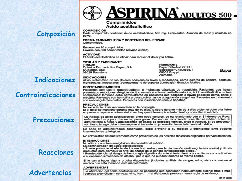 Composición Indicaciones Contraindicaciones Precauciones Reacciones Advertencias