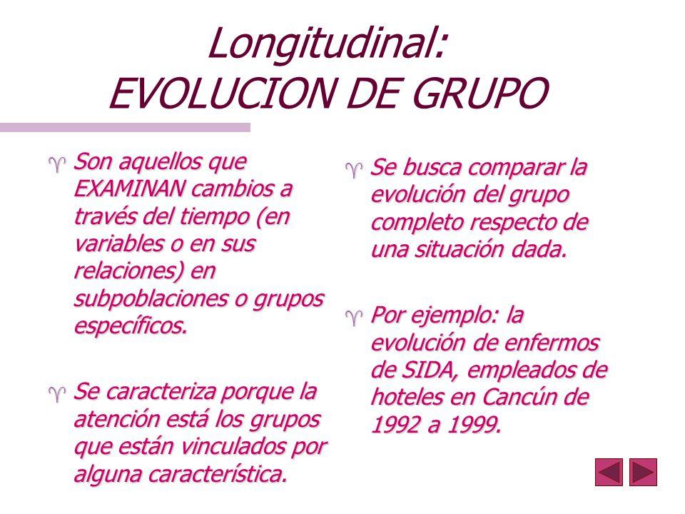 Longitudinal: EVOLUCION DE GRUPO