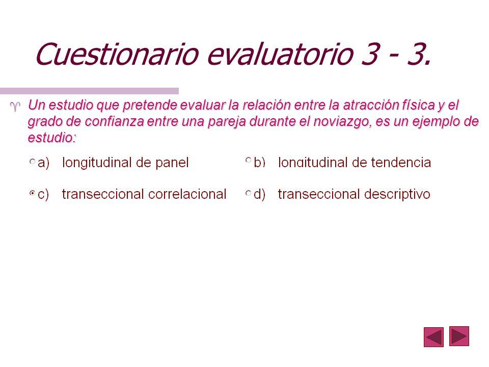 Cuestionario evaluatorio 3 - 3.