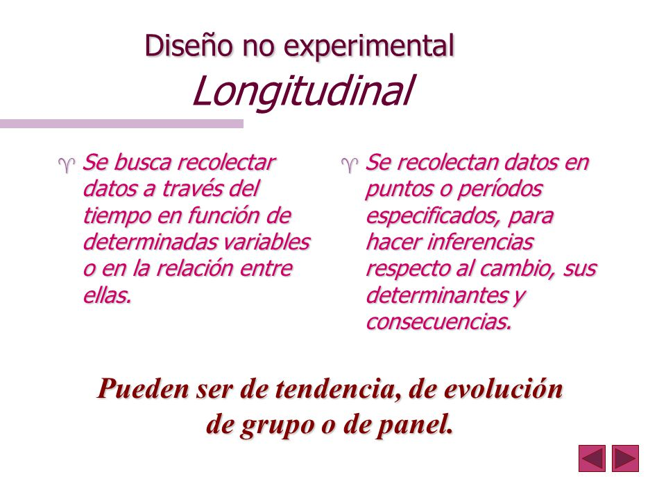 Diseño no experimental Longitudinal