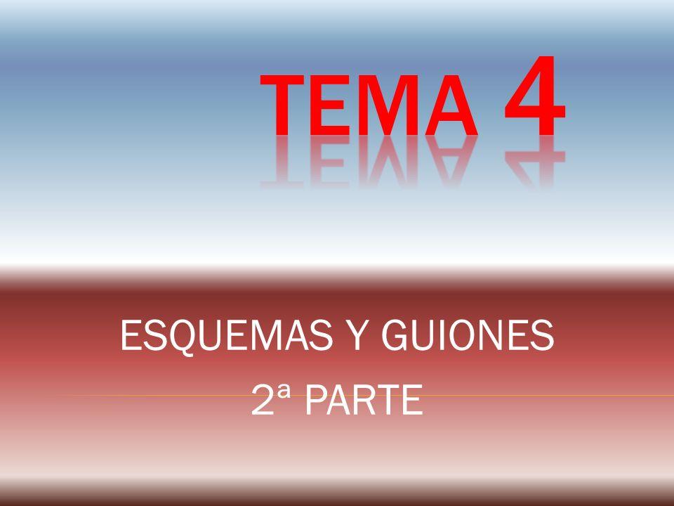 ESQUEMAS Y GUIONES 2ª PARTE