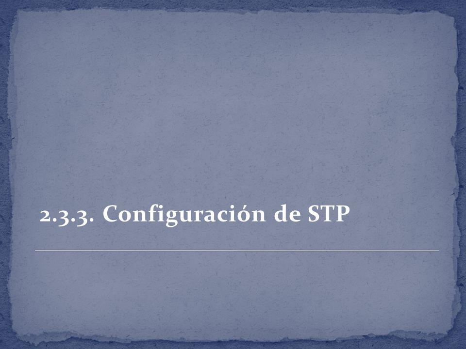 2.3.3. Configuración de STP