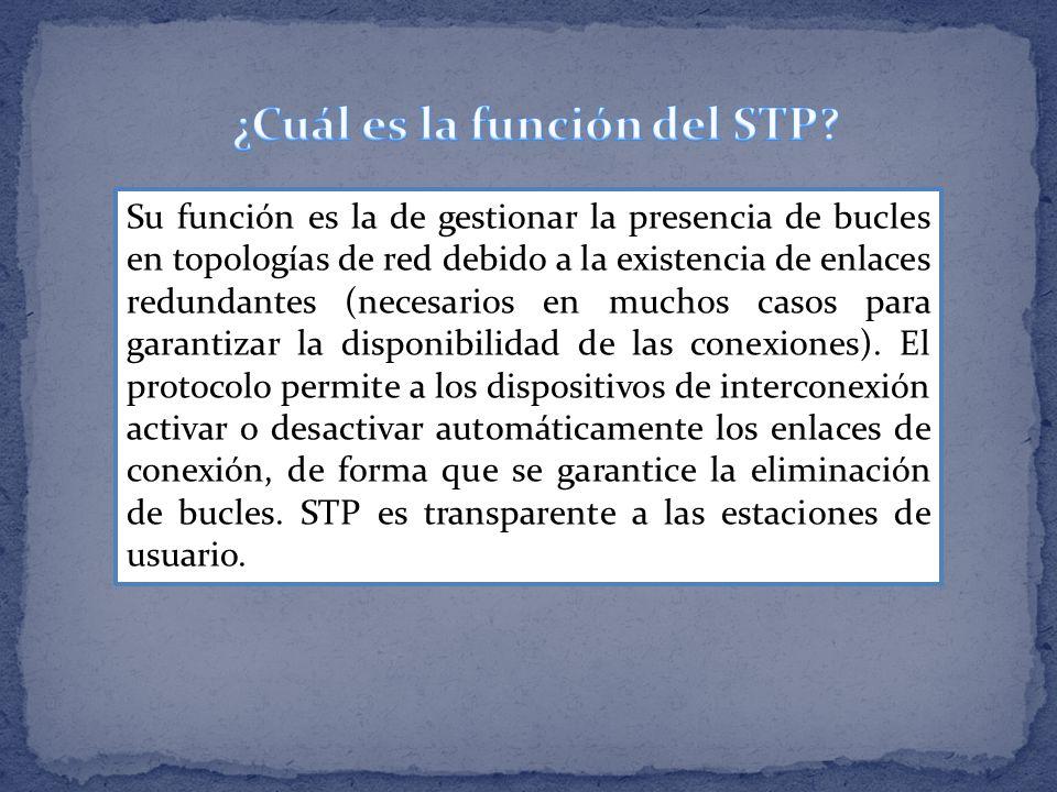 ¿Cuál es la función del STP