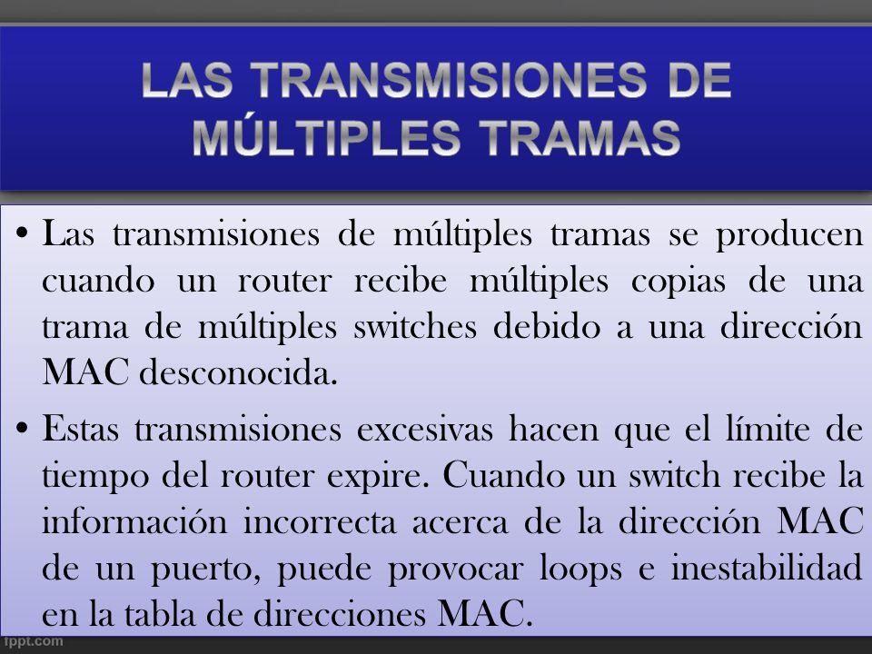 LAS TRANSMISIONES DE MÚLTIPLES TRAMAS