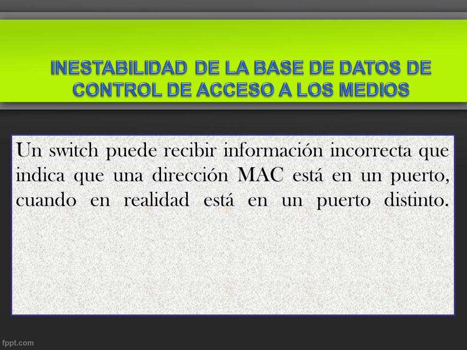 INESTABILIDAD DE LA BASE DE DATOS DE CONTROL DE ACCESO A LOS MEDIOS